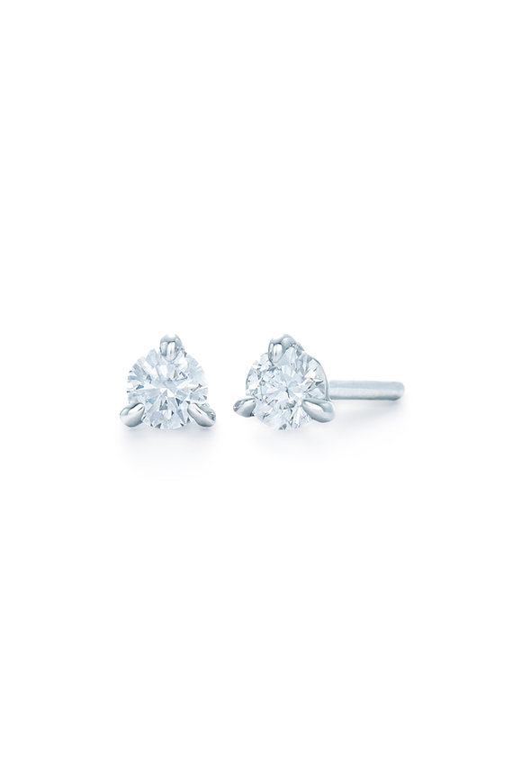 Kwiat 18K White Gold Diamond Stud Earrings