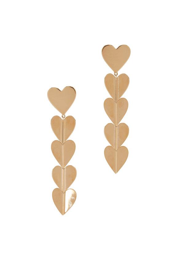 Cadar 18K Yellow Gold Wings Of Love Drop Earrings