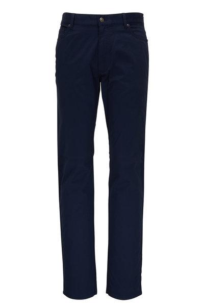 Ermenegildo Zegna - Navy Washed Cotton Five Pocket Jean
