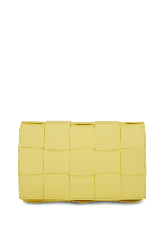 Bottega Veneta Cassette Sherbet Quilted Leather Small Bag
