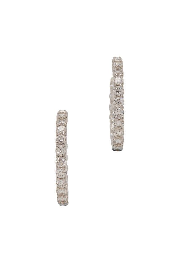Kwiat 18K White Gold Diamond Hoop Earrings
