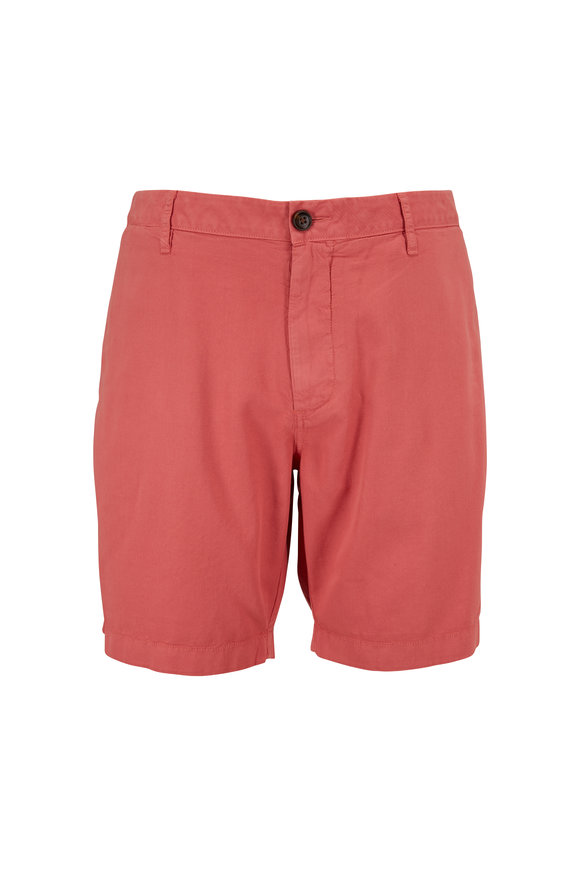 Faherty Brand Harbor Hermosa Red Cloud Cotton Shorts