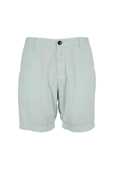 Faherty Brand - Harbor Sea Foam Cloud Cotton Shorts