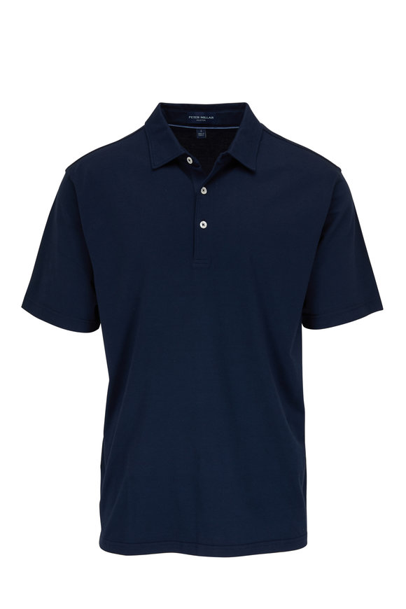 Peter Millar Excursionist Navy Short Sleeve Polo