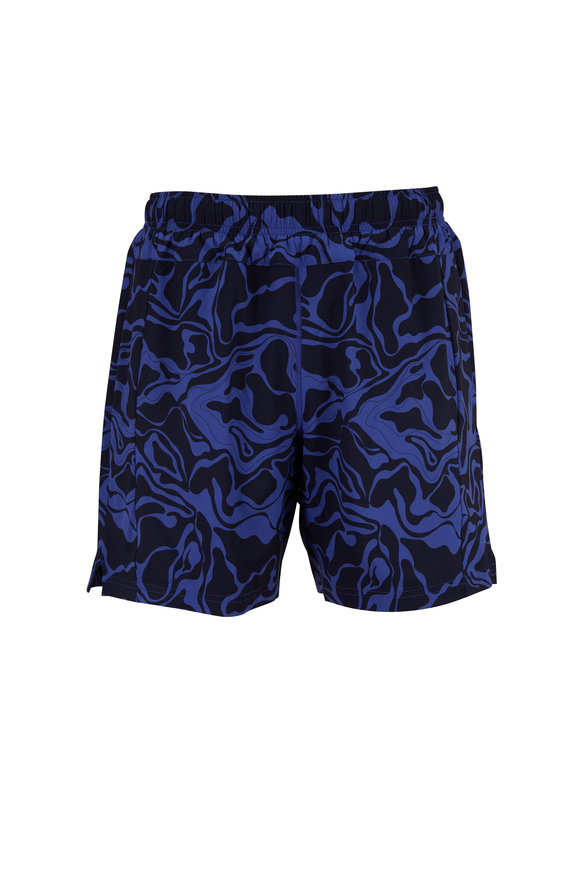 Fourlaps Bolt Blue Printed Performance Shorts