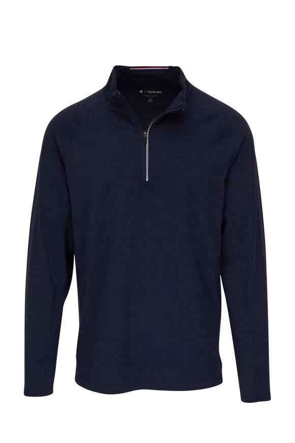 Fourlaps Level Navy Half-Zip Pullover