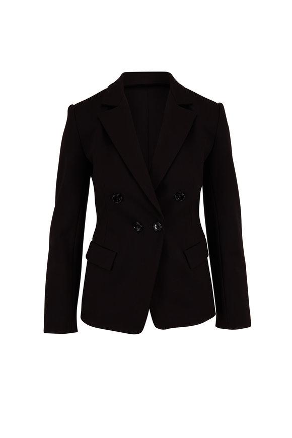 Dorothee Schumacher Emotional Essence Black Double-Breasted Jacket