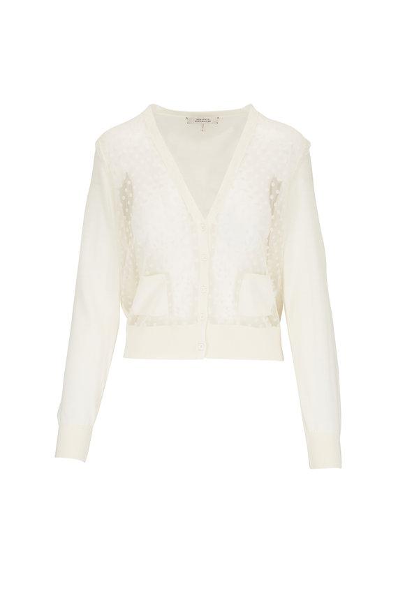 Dorothee Schumacher White Transparent Mix Cardigan