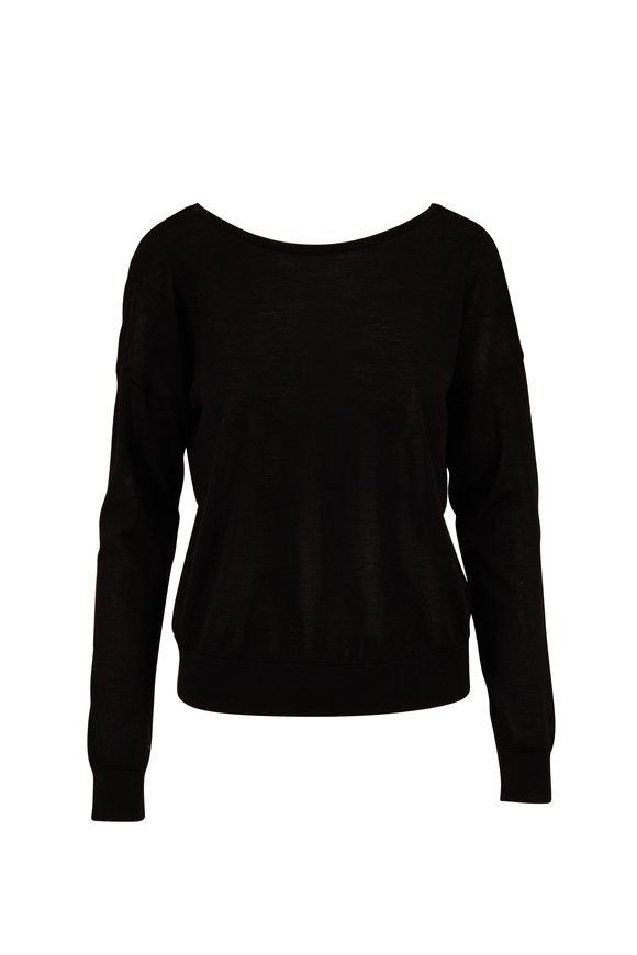 Dorothee Schumacher Black Stud Embellished Back Knit Pullover