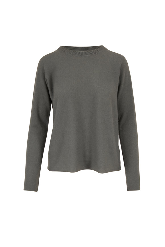 Vince Light Green Cashmere Pullover Sweater