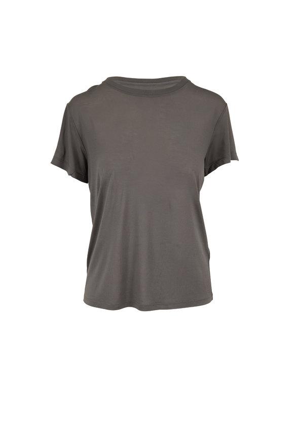 Vince Blue Green Modal Short Sleeve T-Shirt