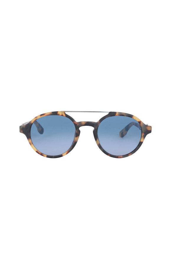 Kiton KT504S Sole Tortoise Blue Lens Sunglasses