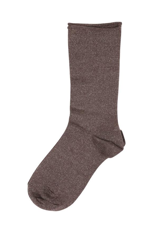 Brunello Cucinelli Fango Cashmere Lurex Socks