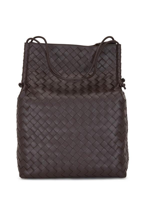Bottega Veneta Dark Brown Woven Nappa Leather Shopper
