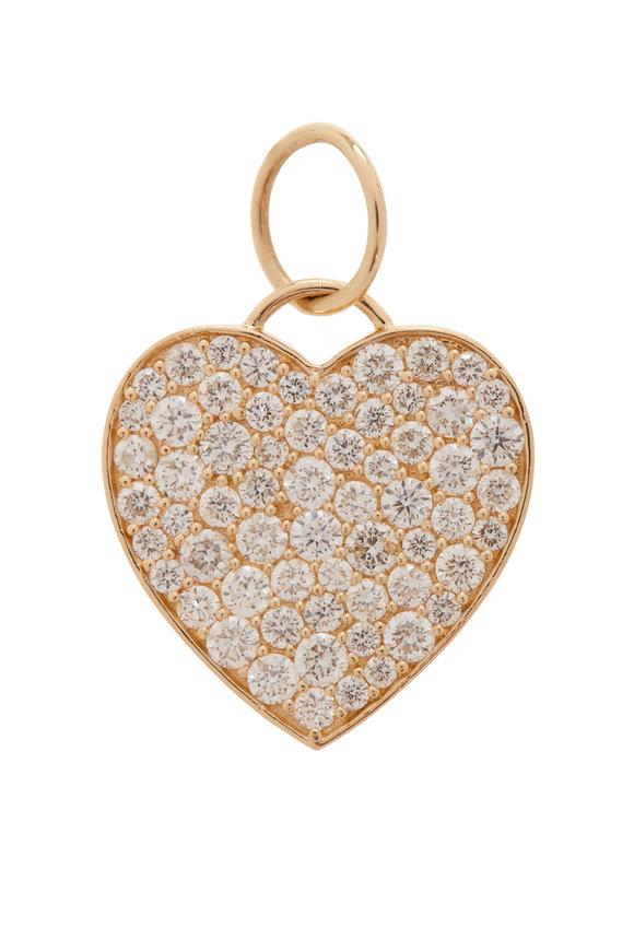 Kai Linz Rose Gold Diamond Heart Pendant