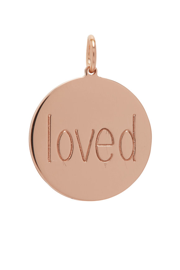 Genevieve Lau Rose Gold Loved Disc Charm