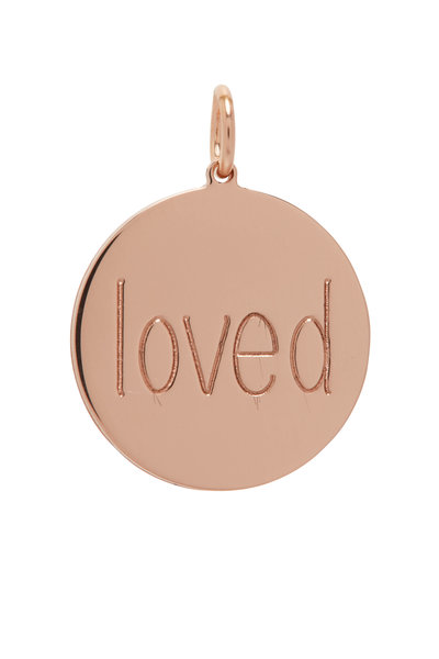 Genevieve Lau - Rose Gold Loved Disc Charm