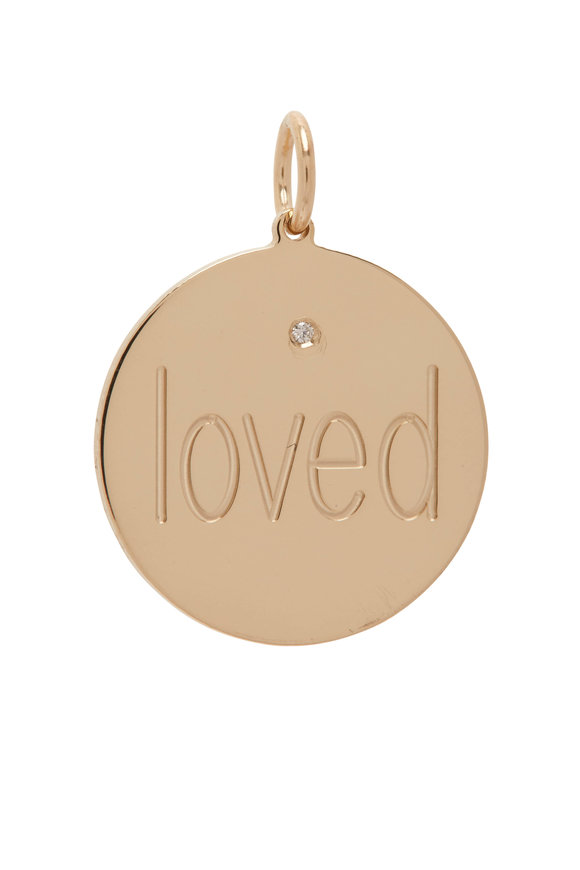 Genevieve Lau Yellow Gold Loved Disc Charm