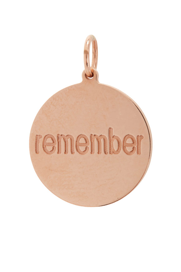 Genevieve Lau Rose Gold Always Remember Charm