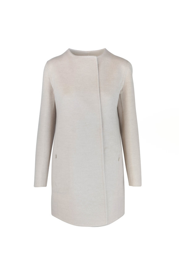 Akris Madreisa Ecru Wool & Cashmere Reversible Coat