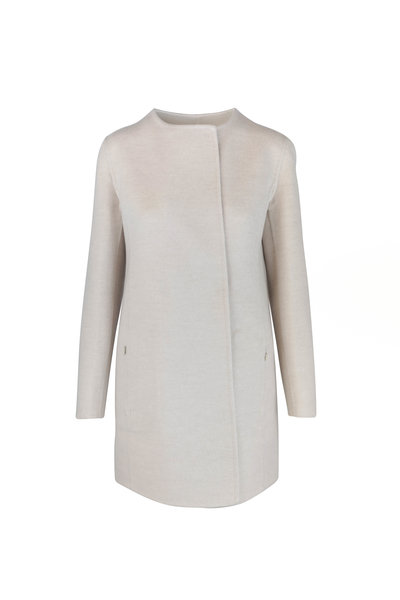 Akris - Madreisa Ecru Wool & Cashmere Reversible Coat