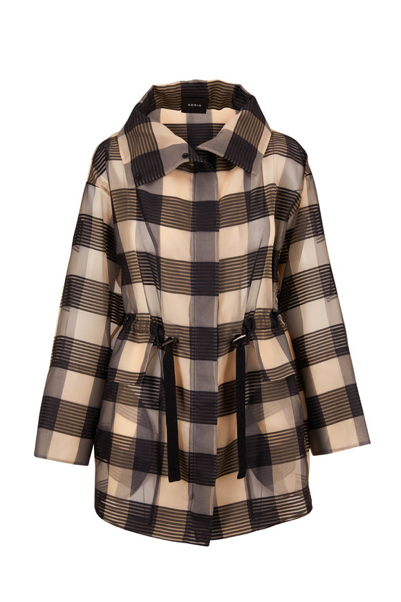 Akris Akris Black & Natural Organza Tie Waist Jacket