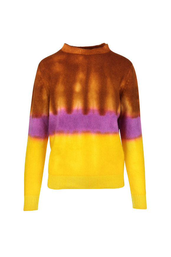 The Elder Statesman Multicolor Gradient Cashmere Sweater