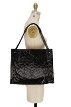 Saint Laurent - Niki Glossy Black Leather Chain Shoulder Bag