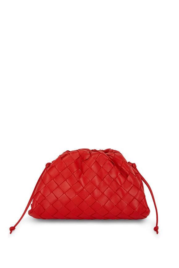 Bottega Veneta Nail Polish Red Interciatto Pouch Small Crossbody