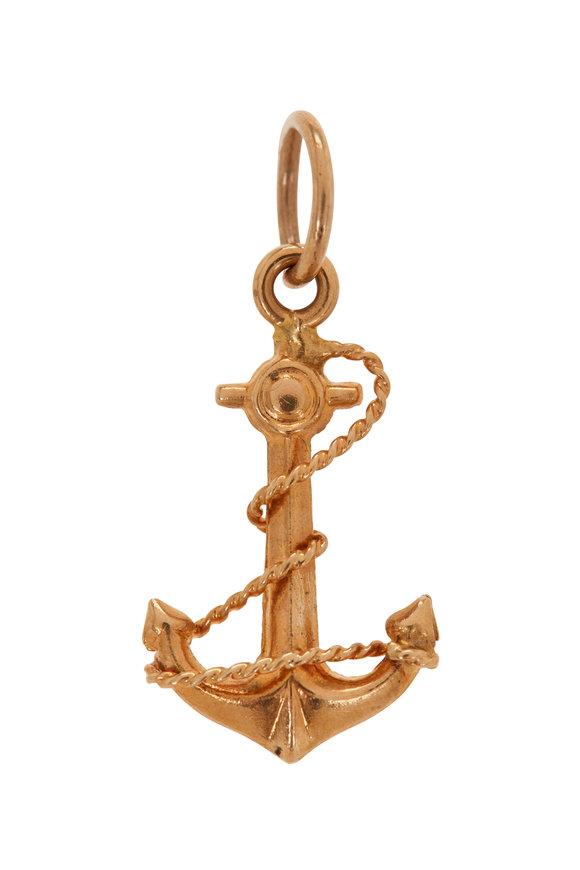 Fred Leighton 14K Yellow Gold Anchor Charm