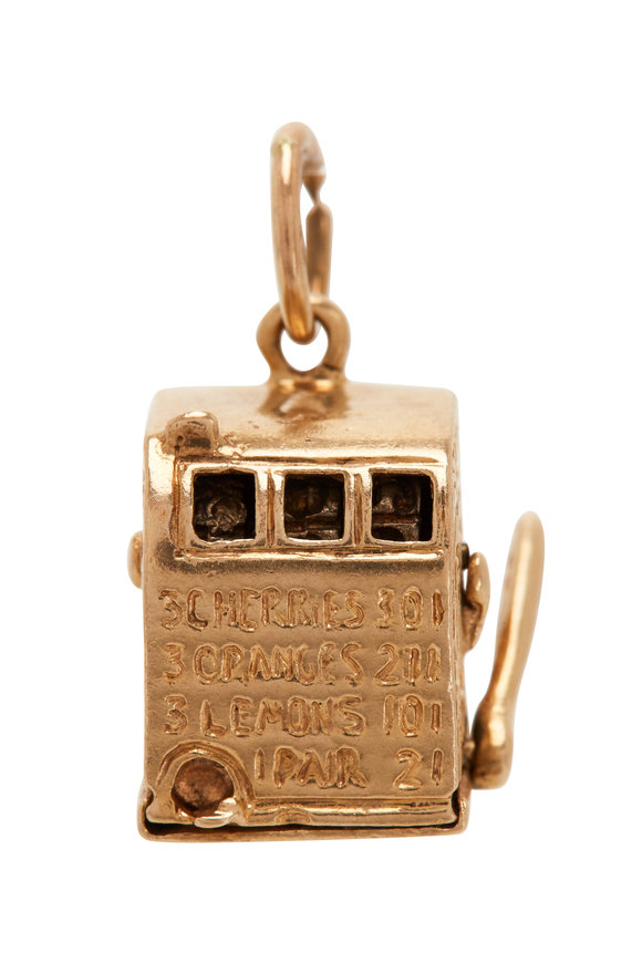 Fred Leighton 14K Yellow Gold Slot Machine Charm