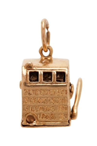 Fred Leighton - 14K Yellow Gold Slot Machine Charm