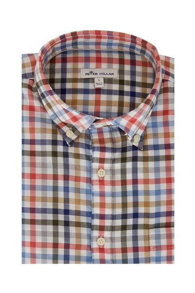 Peter Millar - Devonport Pink Multicolor Large Check Sport Shirt