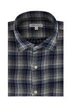 Peter Millar - Hamilton Navy Blue Plaid Sport Shirt
