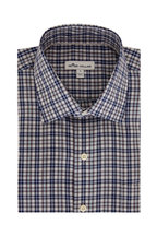 Peter Millar - Tamerlane Navy Blue Plaid Sport Shirt