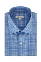 Peter Millar - Andre Light Blue Plaid Performance Sport Shirt