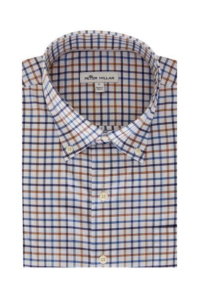 Peter Millar - Louis Brown & Blue Check Sport Shirt