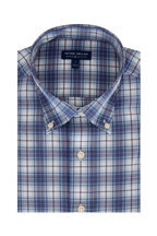 Peter Millar - Oliver Blue Plaid Tailored Fit Sport Shirt