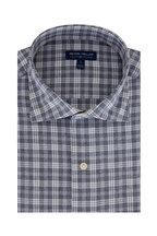Peter Millar - Carter Navy Blue Plaid Tailored Fit Sport Shirt