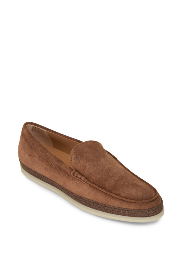 Tod's Brown Suede Espadrille Loafer