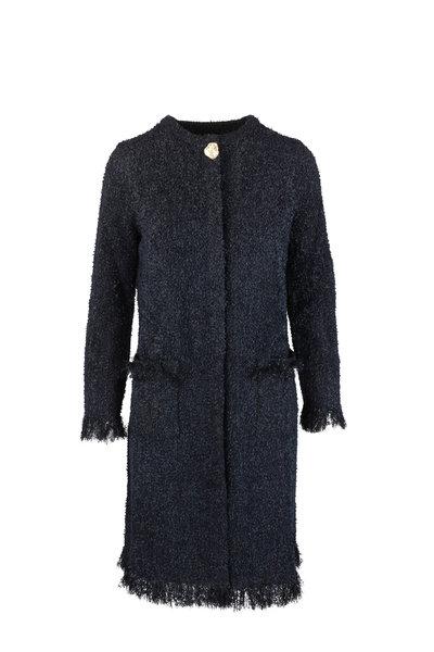 Oscar de la Renta - Black Tweed Topper Jacket
