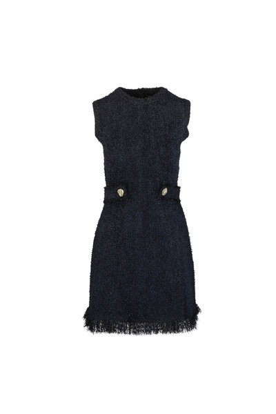 Oscar de la Renta - Black Sleeveless Knit Mini Dress