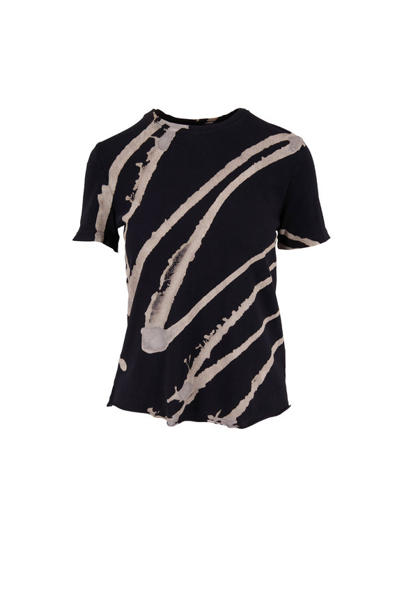 Raquel Allegra Black & White Printed Boy T-Shirt