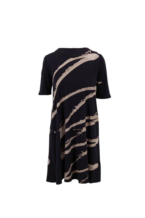 Raquel Allegra Sonia Black & White Printed Dress