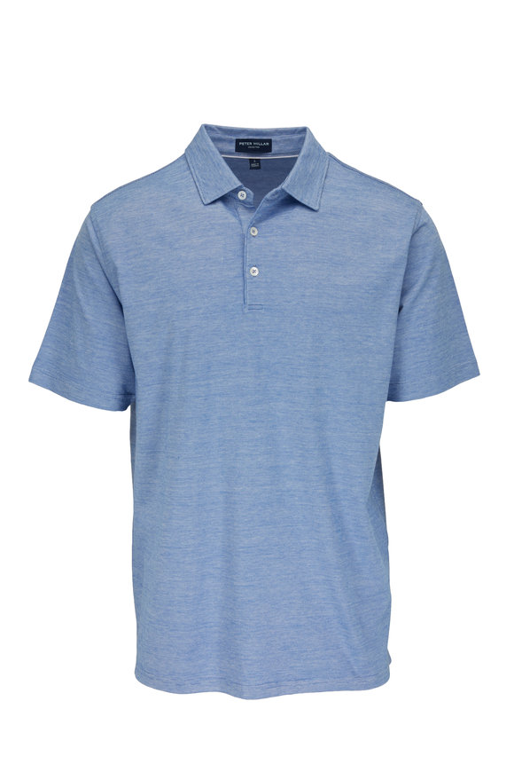 Peter Millar Excursion Flex Avio Blue Short Sleeve Polo