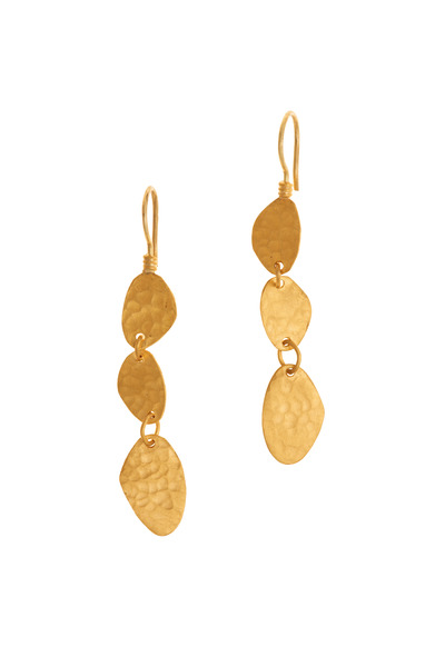 Yossi Harari - Yellow Gold Drop Earrings
