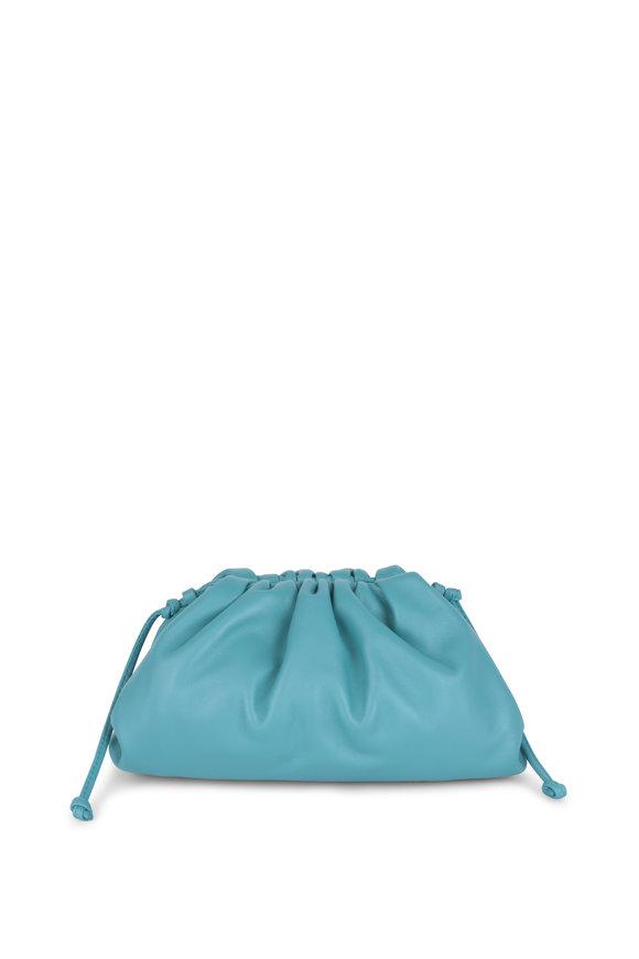 Bottega Veneta The Pouch Turquoise Leather Small Crossbody Bag