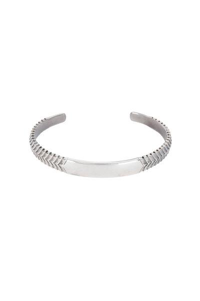 Stephen Webster - Sterling Silver Torque Engraved Herringbone Cuff