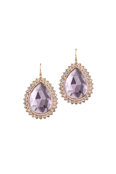 Irene Neuwirth - Monstone & Pavè Diamond Earrings