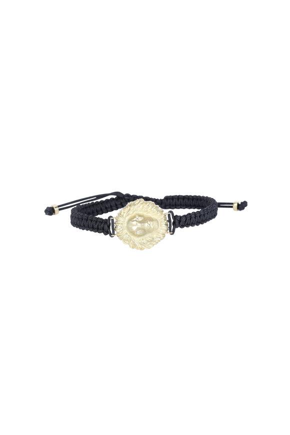 Kimberly McDonald 18K White Gold Lion Head Macrame Bracelet